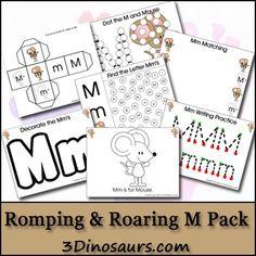 Free Romping & Roaring M Pack - 3Dinosaurs.com