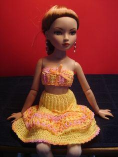 Chrochet skirt and top