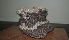 Loom Knit - Knifty Knitter Flower Loom Baby Boots loom knitting patterns, craft, tutorials, nan, crochet, babi boot, flowers, knifti knitter, baby boots
