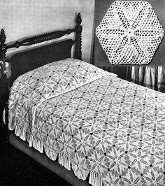 Crochet Bedspread   How To Crochet » BEDSPREAD CROCHET PATTERNS