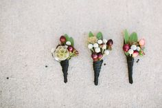 berry boutonnieres Photography by Taylor Lord Photography / taylorlord.com, Floral Design by Coco Fleur Events / cocofleureventdesign.com