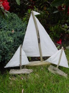 Holy Craft: driftwood sailboat