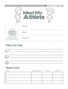 Free Winter Olympic Printables..Cool idea for olympics.