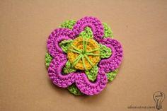 funky flower crochet pattern