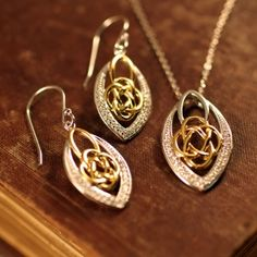 Celtic Knot Marquis Earrings