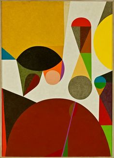 "Frederick Hammersley, Summon Up, #11, 1958. Oil on linen, 49""x34.75"""