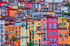 * provencealp cote, provenc villag, colorful houses, cote dazur, menton, france, travel, place, color citi