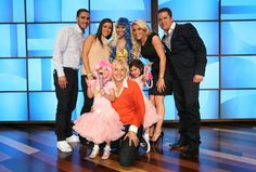 Sophia Grace & Rosie   Ellen and Nicki Minaj pose for a photo with the little girls, Sophia and Rosie, from Essex, England, and their parents!