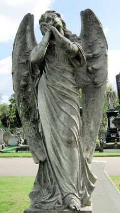 The Angels of Manor Park Cemetery in London