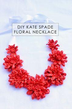 floral necklac, silk flower