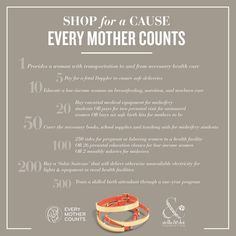 Shop for a cause with Stella & Dot. 100% net proceeds benefit Every Mother Counts, a non-profit organization dedicated to making pregnancy and childbirth safe for every mother.
