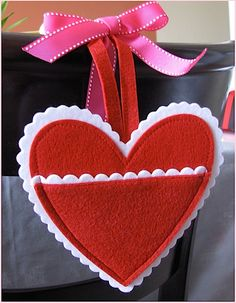 Cute idea- stick love notes inside. Could even hang on their doorknob.