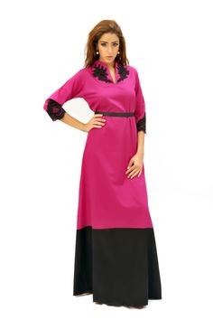 Item name: Scottante2012 ~ Fuchsia/Black Cotton ~ Lace on Chest and Sleeves ~ 1,300sr    To place an order, kindly fill in the order form:    https://docs.google.com/spreadsheet/viewform?formkey=dE1rVndSTk9tZllJZUVILWwycGEweUE6MQ#gid=0