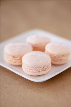 Champagne and rose macarons