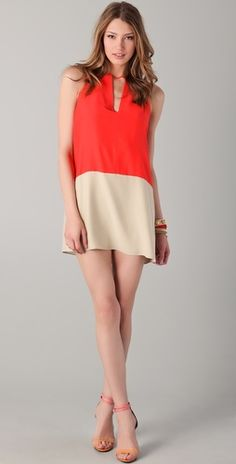 Great colour blocking on this Parker dress!