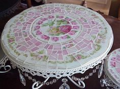 Like this table mosaic.