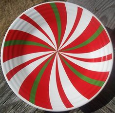 "FIESTAWARE 9"" CHRISTMAS LUNCHEON PLATE"