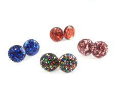 DIY: Glitter Earring Posts