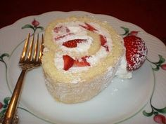 Strawberry Whipped Cream Roll