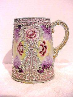 HAND PAINTED NIPPON (OLD NORITAKE) PINK MORIAGE FLORAL MUG | eBay hand paint, charm china