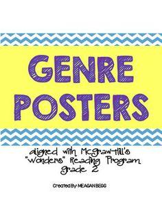 Genre Posters: Wonders McGraw Hill. Free