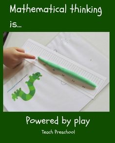 Math is powered by play!  Teach Preschool
