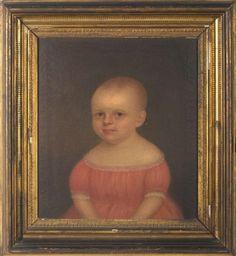 pair of portraits of Benjamin and Anna Lamprey, NH, $4130