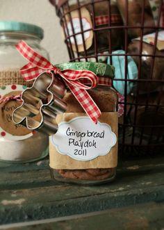 diy - gingerbread playdough