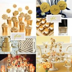 Gold New Year's Eve Party {via Indulgy}