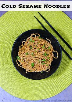 Bobbi's Kozy Kitchen: Cold Sesame Noodles #SecretRecipeClub #Asianfood