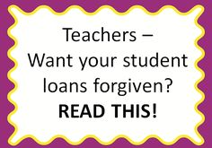 Do you still have student loans? Did you know there are federal programs out there that may forgive them? Read this blog post to learn more! students, idea, stuff, loan forgiv, food, money, blog post, student loans, teacher student