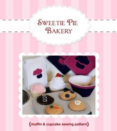 DIY Felt Cupcake Muffin Baking SetPlay FoodPDF by sweetiepiebakery, $6.99