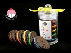 Rainbow Oreo Cookie Jars - Easy No-Bake Recipe! A Cupcake Addiction How To Tutorial. This tutorial and more available for FREE on our YouTube channel MyCupcakeAddiction Cupcakes Addiction, Easy No Bak, Hawaiian Parties, No Bak Recipe, Easy Recipes, Cookie Jars, Rainbows Oreo, Oreo Cookies, Cookies Jars