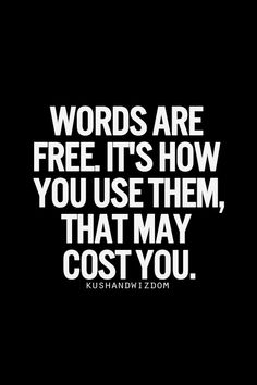 Words are