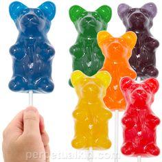 Cake topper idea....Giant Gummy Bear On A Stick