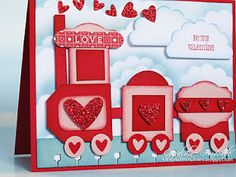 GET ON THE LOVE TRAIN...layout included on blog of punches to use.