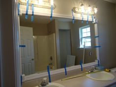 diy frame a mirror | The frame is sold in a packet, which is used to frame a door, cost $10 ...