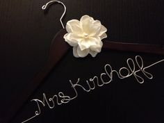 SALE Personalized Bridal Dress Hanger with by WiredCreations1, $25.00