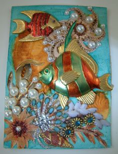 A beautiful ATC of under the sea From Artfully Amusing