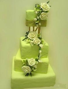 Matcha birthday cake