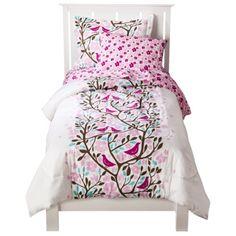 Big Girl Bedding; Birds in Trees Comforter Set