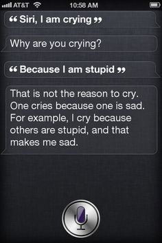 "Siri quoted Sheldon Cooper from ""The Big Bang Theory"" :D"