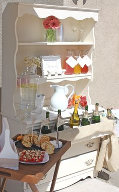 Romantic Bridal Shower - love the make your own Mimosa Bar