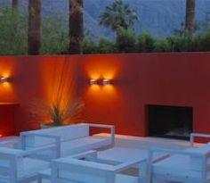 architect, adezz gardenwal, outdoor living spaces, luis barragan, outdoor room, deck, steve martino, red walls, wall design