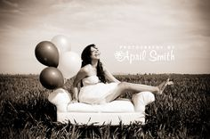 senior or maternity... I love the bench in the open field with the balloons.