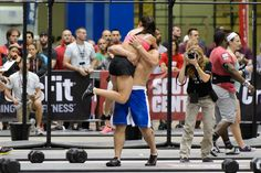 Loving embrace after the wod