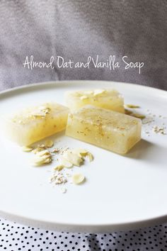 Almond Oat and Vanilla Soap recipe with melt and pour soap