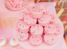 Watermelon macarons | Dunne With Style | 100 Layer Cakelet