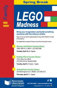 Pierce County Library - LEGO