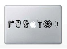 The Avengers Laptop Decal von ShepStuff auf Etsy, $9,50